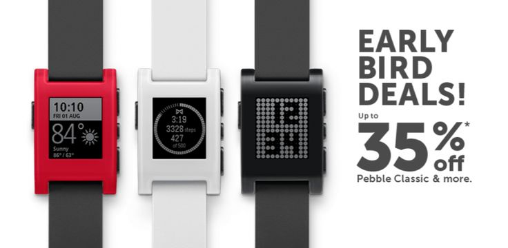 Pebble rebaja el precio de sus smartwatches - http://www.actualidadiphone.com/pebble-rebaja-el-precio-de-sus-smartwatches/