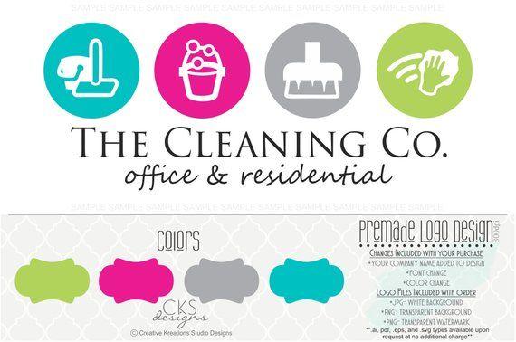 Premade Logo Watermark Cleaning Service Logo House Cleaning Etsy Cleaning Service Logo Cleaning Logo Service Logo