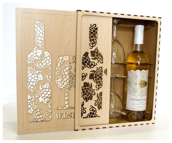 Personalised Wooden Wine Box Christmas Wine Gifts Xmas Tree 2