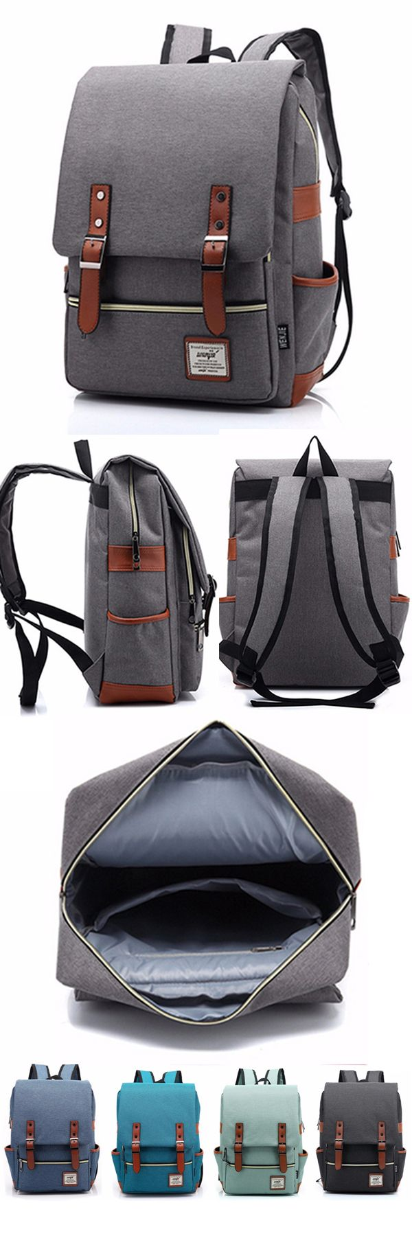 US$31.86 + Free shipping. 14 inches canvas classic laptop backpacks, school backpack.