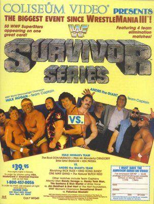 Team Hogan vs. Team Andre the Giant (WWF Survivor Series '87).