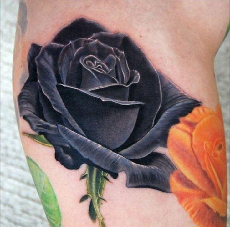 die besten 17 ideen zu schwarze rose tattoos auf pinterest. Black Bedroom Furniture Sets. Home Design Ideas