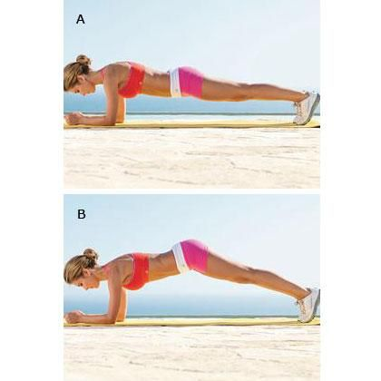 Do this when (or IF) the basic plank ever gets too easy. You'll feel it fast!