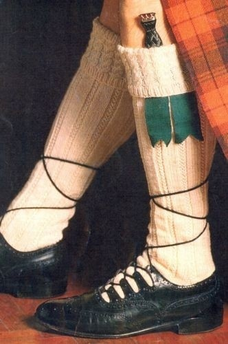 Mens Scottish kilt socks with 5 borders - sizes 10 to 11 - DK - Knitting Pattern…