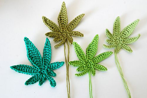 Ravelry: Marijuana leaf applique crochet pattern pattern by Ahooka Migurumi