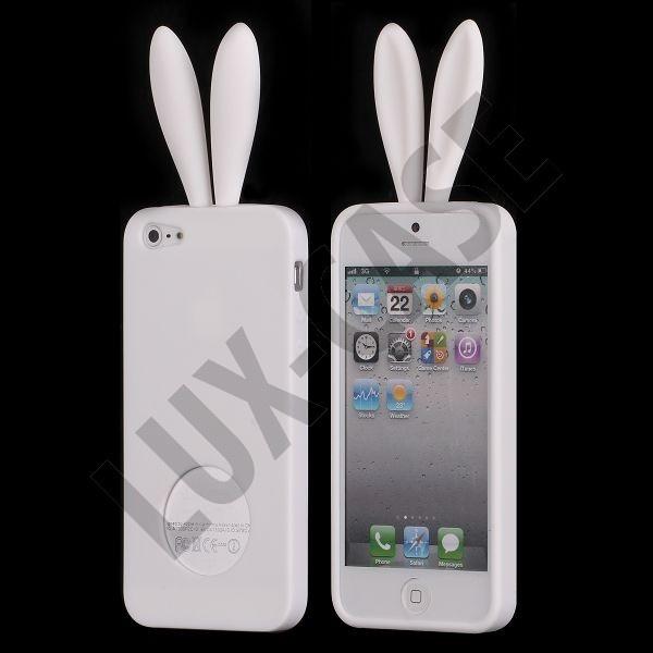 iPhone 5 valkoiset pupu suojakuoret!