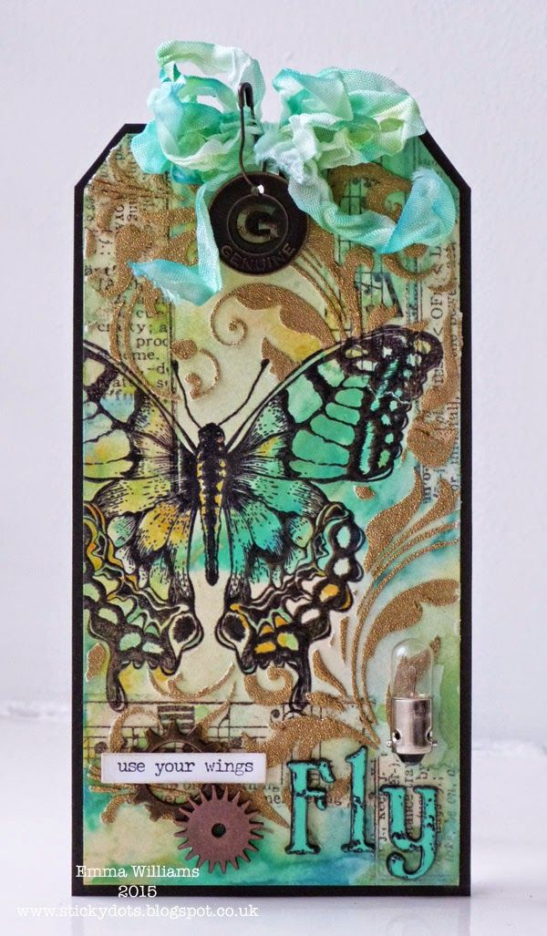 Use Your Wings by Emma Williams for Tim Holtz 12 Tags of 2015