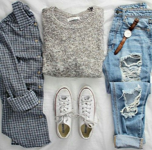Like the shirt, sweater, and shoes. NOT the jeans!