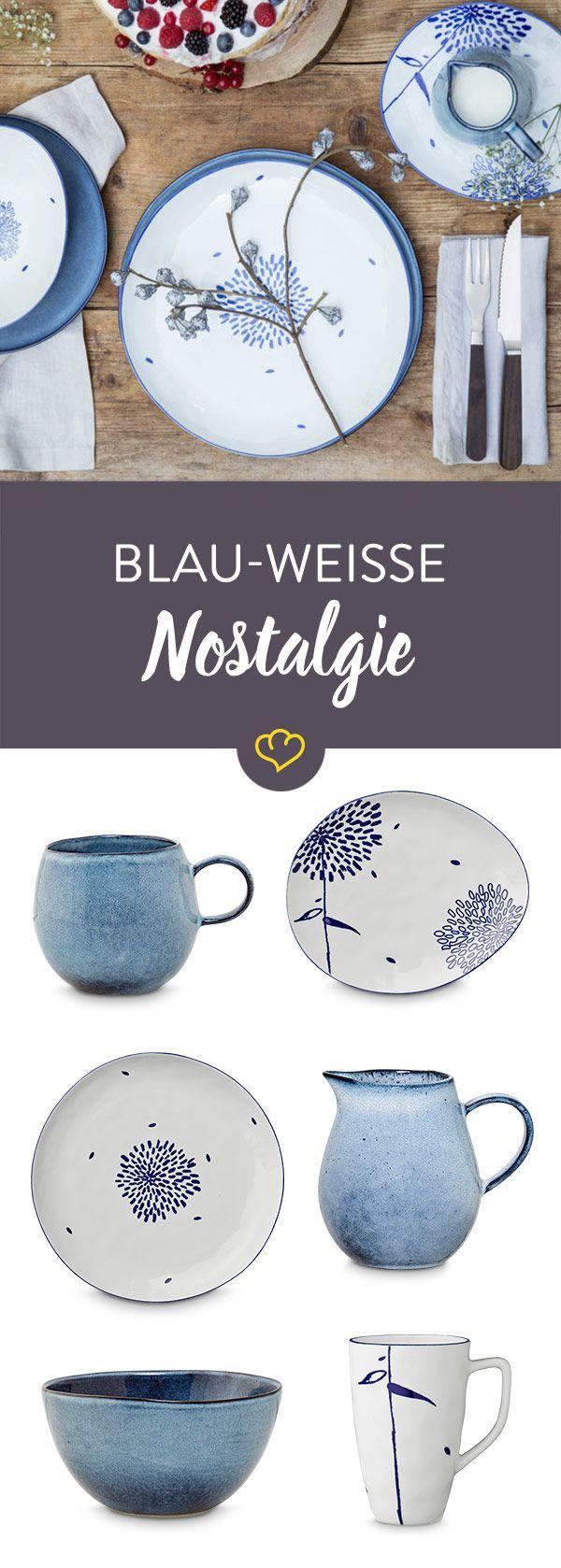 Blau-weißes Geschirr ist und bleibt ein Klassiker und gehört in jeden Küchenschrank!