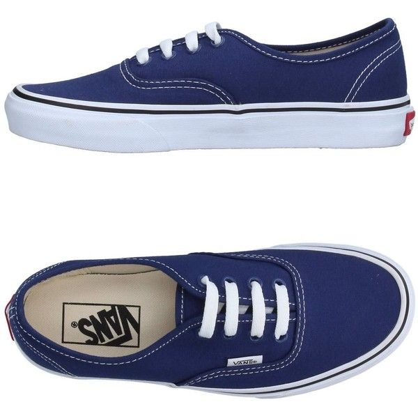 Vans Sneakers ($66) ❤ liked on Polyvore featuring shoes, sneakers, dark blue, dark blue shoes, flat footwear, flat sneakers, flat shoes and round toe flat shoes