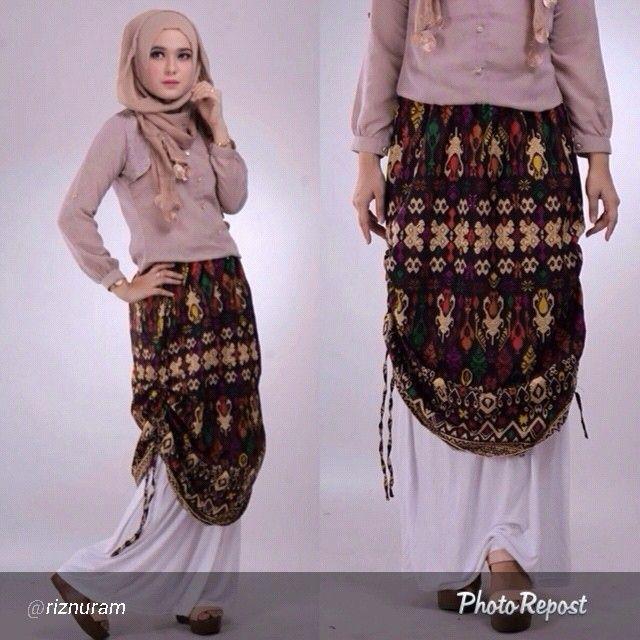 Rok Etnik Ikat Print Rang Rang Bali  Azeta Skirt.