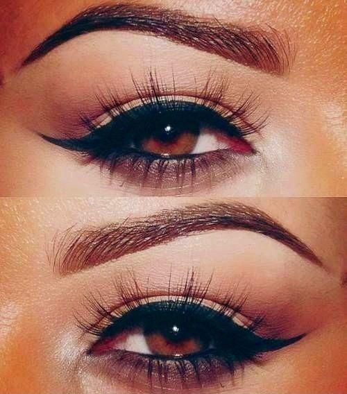 Brown Eyes Winged Liner Make Up Addiction Pinterest