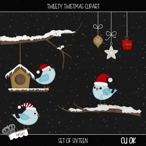 Tweety Twistmas - Clipart by kirsty smith This is a set of 16 cliparts. Perfect for all your Christmas projects. *This set has a slight…