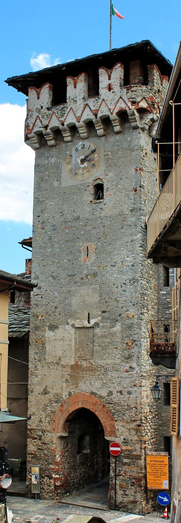 Lanzo Torinese,Piedmont, Italy, Tower