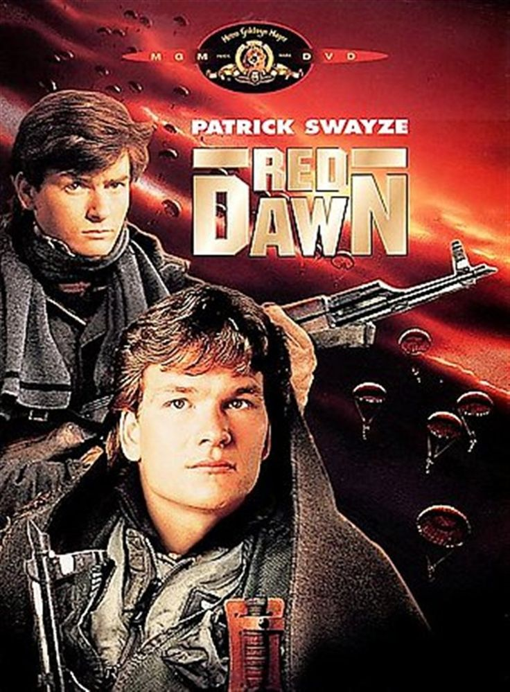 Red Dawn.  Wolverines!  Starring Patrick Swayze, C. Thomas Howell, Lea Thompson, Charlie Sheen, Darren Dalton, Jennifer Grey, Brad Savage, Doug Toby, Powers Booth