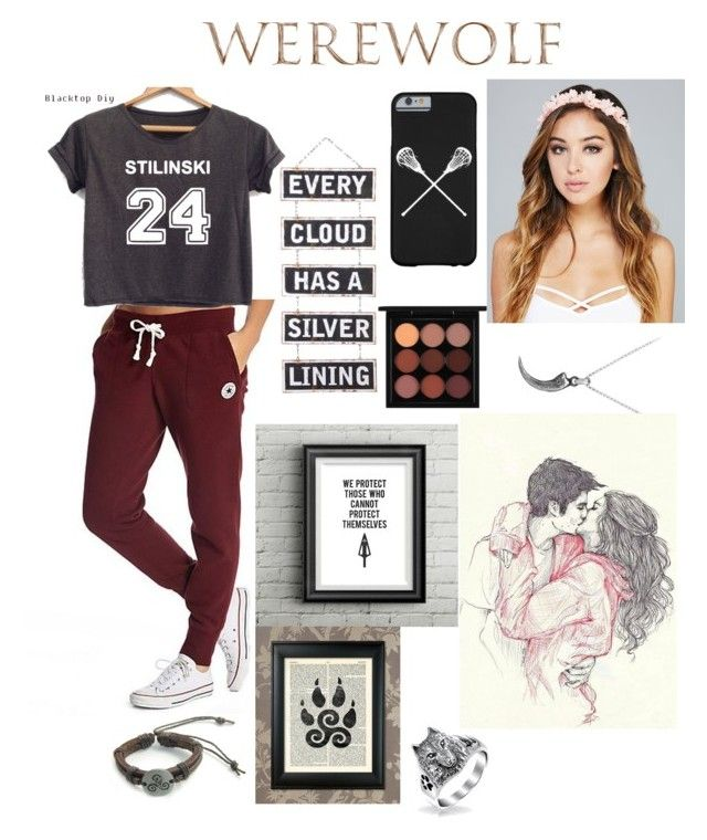 """Teen Wolf"" by rodensxfievel ❤ liked on Polyvore featuring Converse, MAC Cosmetics, Bling Jewelry, David Yurman and Wet Seal"