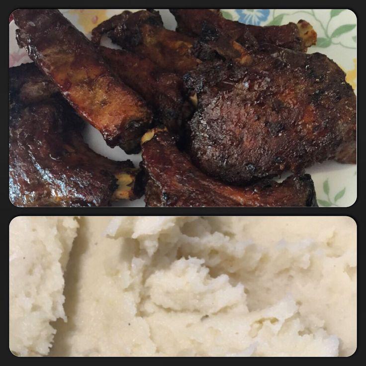 Baked bbq pork back ribs deeeeeeliciousssss