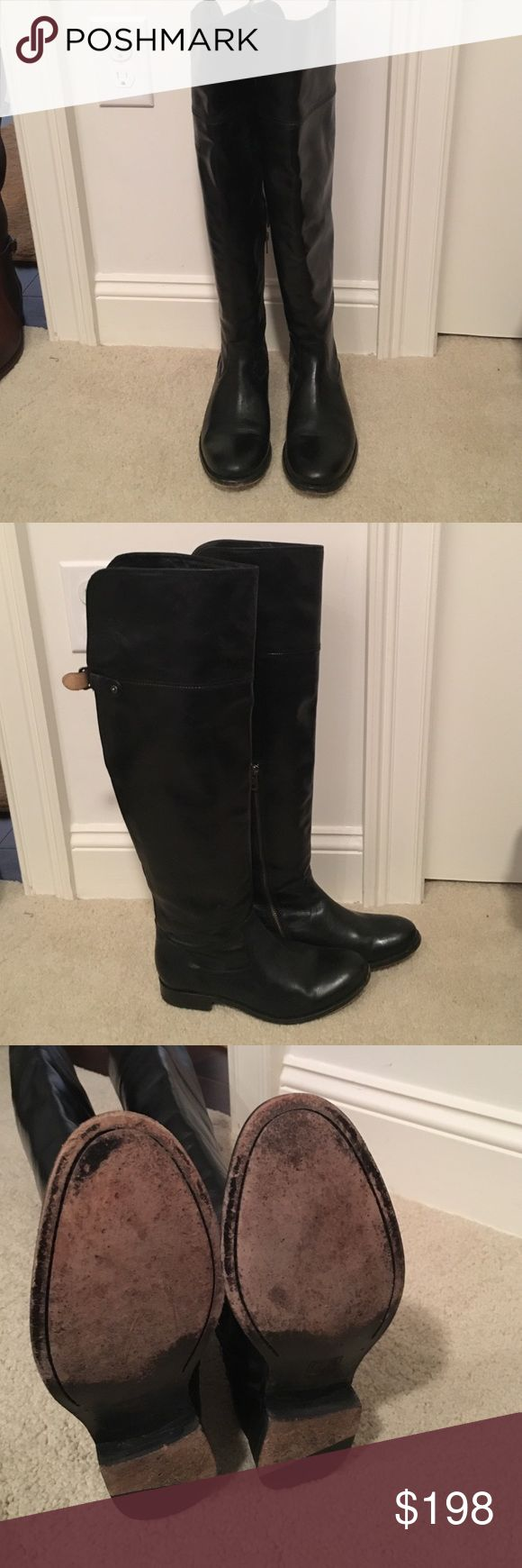 Frye Melissa Over the Knee 77624 size 8 black Gently worn Frye Melissa over the knee Frye Shoes Over the Knee Boots