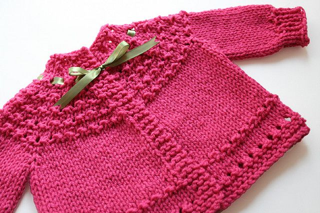 Ravelry: Quickie (5 Hour) Baby Sweater pattern by Fiber Gypsy