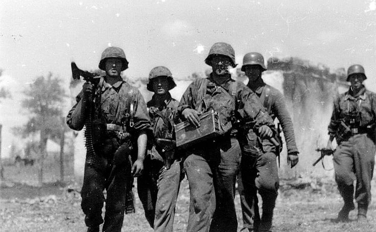 Leibstandarte soldiers during the Battle of Kursk in 1943. Kursk was one of the bloodiest battlegrounds in Russia. It also marked the most prominent Waffen SS victory on the Eastern Front.