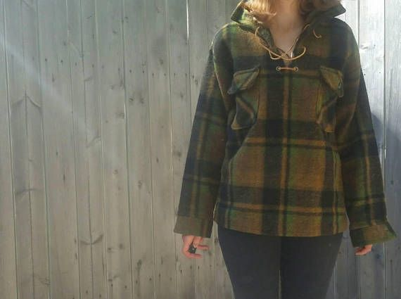 Check out this item in my Etsy shop https://www.etsy.com/listing/556948711/vintage-1960s-leather-lace-up-plaid-wool