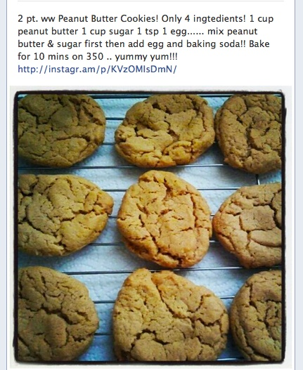 2 pt WW Peanut Butter Cookies!! ingredients*  :): Ww Peanut Butter Cookies