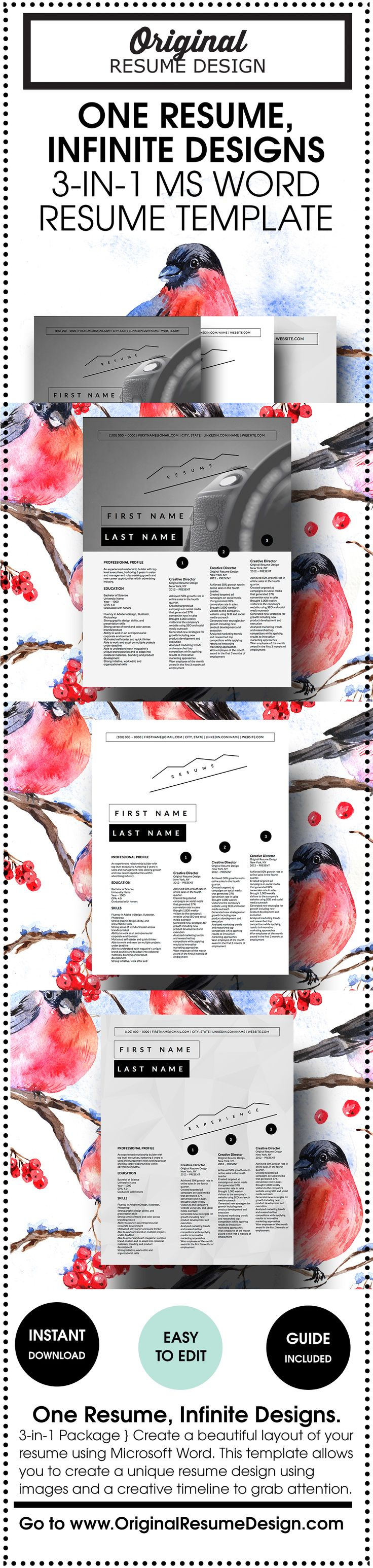 126 Best Resume Images On Pinterest Resume Ideas Cv Design And