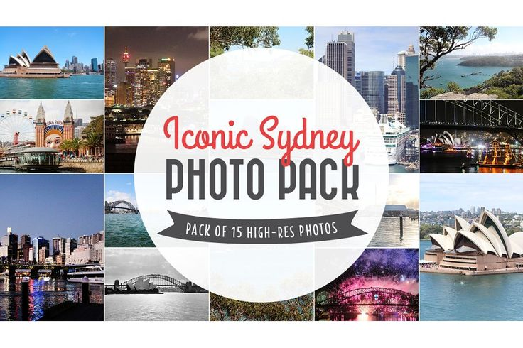 Sydney Landmarks Photo Pack by Polkadot Stationery on @creativemarket  Pack of 21 high-resolution photos that I took around Sydney. Includes the iconic sights such as Sydney Opera House, Sydney Harbour Bridge, Darling Harbour, Circular Quay, Luna Park, and more.