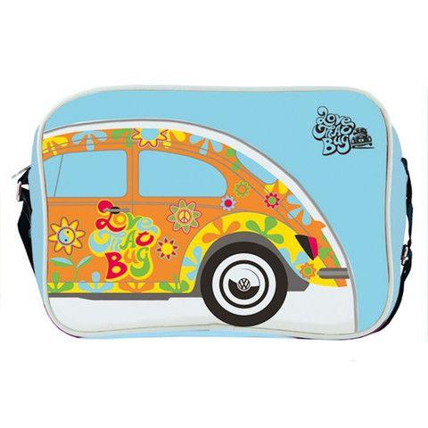 VW Retro Love That Bug Floral Beetle Shoulder Bag - Cool VW Stuff  - 1