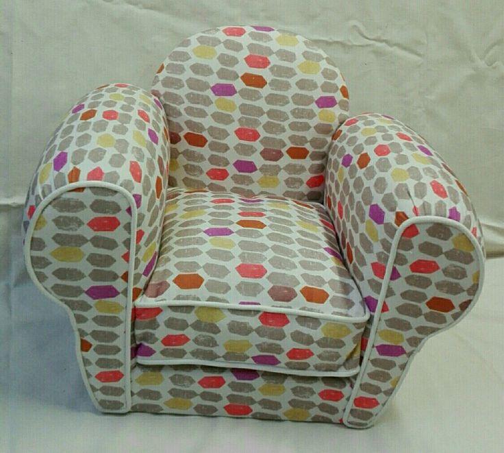 Fauteuil club enfant tissu, tapisserie en siége : Chambre d'enfant, de bébé par by-kartouche
