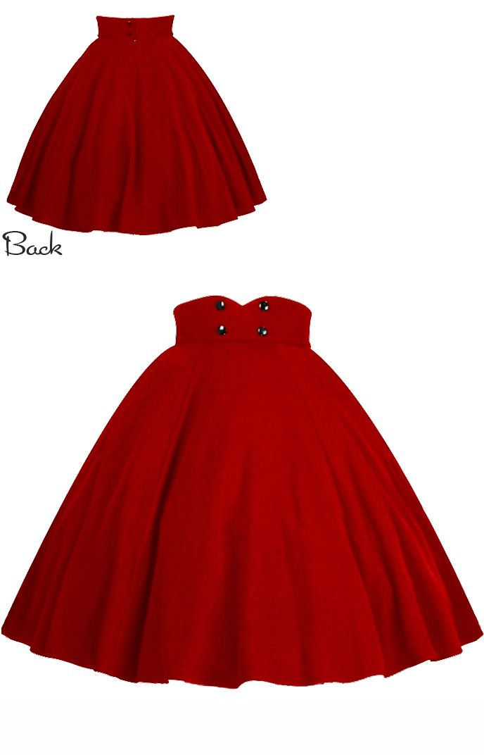 Rockabilly Swing Skirt by Amber Middaugh  2015 Standard Size  $39.95 Plus Size  $45.95