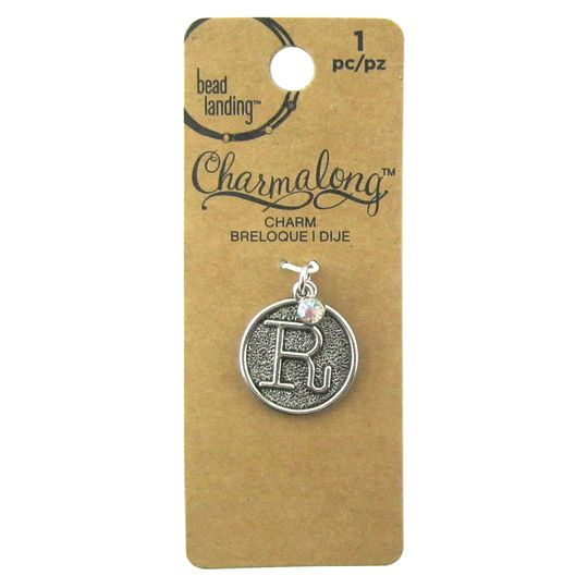 Charmalong™ R Letter Charm by Bead Landing™