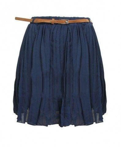 Vintage Chiffon Pleat Skirt (http://www.chicnova.com/vintage-chiffon-pleat-skirt-with-belt-waist.html)