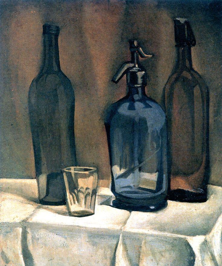 Juan Gris - Siphon and Bottles, 1910