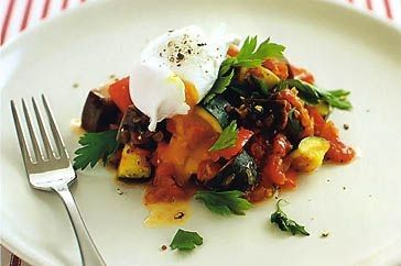 Put eggplant to good use in this tender ratatouille dish.
