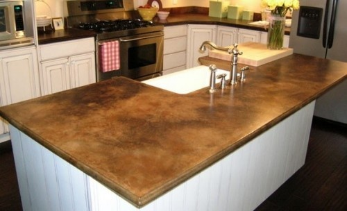 Pertty!! Concrete counter tops!...like this alternative to granite ...