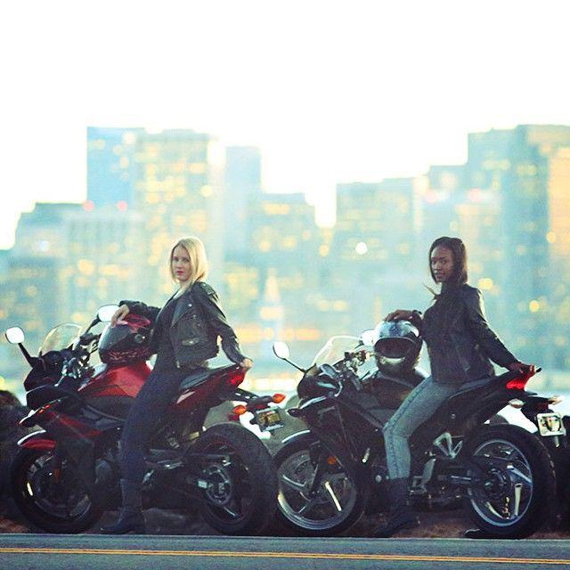 Honda CBR250R and Yamaha FZ6 female motorcycle riders on Treasure Island | San Francisco, California | Bay area | #SF_Moto #MotorcycleLove #sfmoto #bikelife