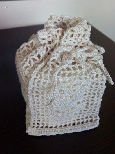 Portapapel baño a crochet
