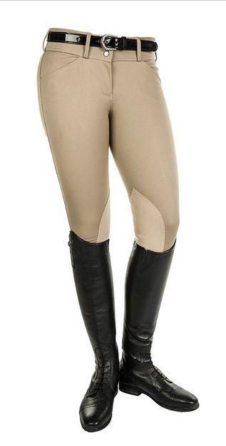 HKM Taylor Low Rise Knee Patch Front Zip Breech