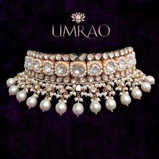 By Umrao Jewels.Bridelan - Personal shopper & style consultants for Indian/NRI weddings, website www.bridelan.com #WeddingChoker #BridalChoker #PolkiChoker #ChokerNecklace #JadauChoker #BridalJewellery #DiamondChoker #EmeraldChoker #RoyalWeddingJewellery #NizamJewellery #Polki #Jadau #IndianJewellery #TraditionalJewellery #Bridelan #BridelanIndia