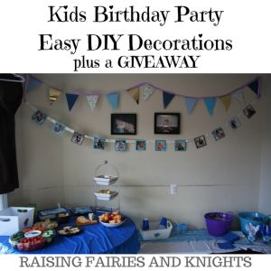 Kids Birthday Party Easy DIY Decorations - Kids Birthday Party's are so much fun! Here are some awesome ways to make them easier on yourself, DIY Party Decorations and locations to go for parties.