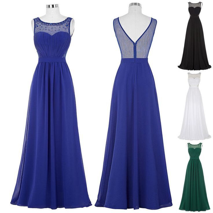 Plus Beaded Long Formal Bridesmaid Dress Prom Party Evening Cocktail Gown Custom #Unbranded