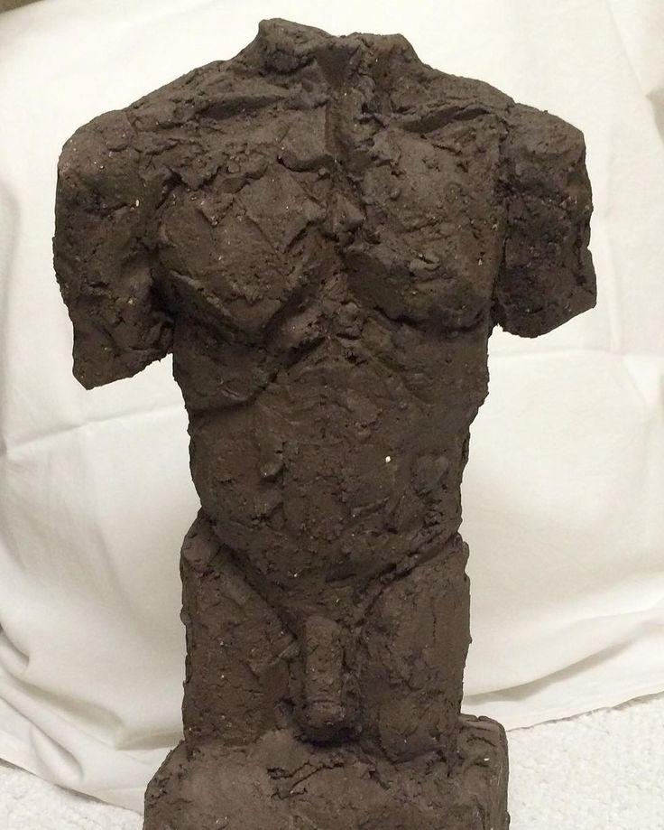 """""""Male torso"""" """"Mande Torso"""" Copyright www.anne-mette.com  I love making sculptures after live models - and I would love to make a very very BIG one.  Jeg elsker at modellere efter levende model og ville ønske jeg en dag får lov til at lave en kæmpe skulptur/torso.  #copyrights #ceramicart #malemodel #male #mand #sculpture #pinterest #pin #www.anne-mette.com #artgallery #canbemadeinbronze #modelling #keramikkunst #danishart #copenhagenartist #modernekunst #contemporarysculpture #modernart…"""