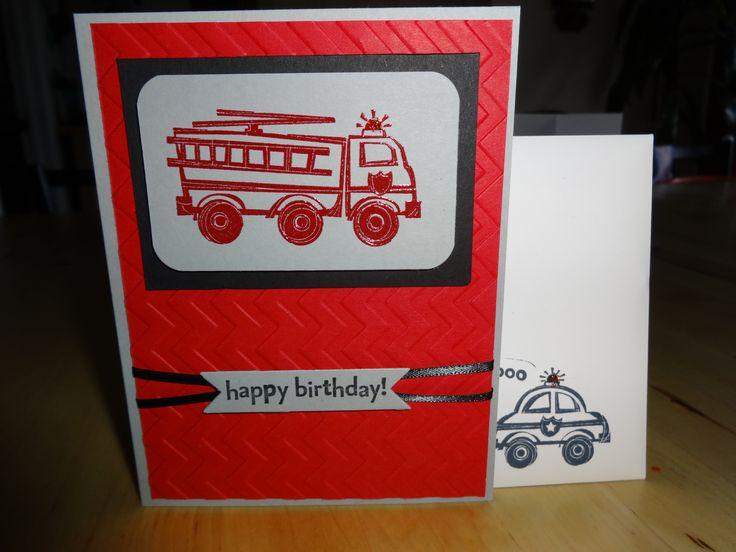 boys birthday card using Stampin Up stamp