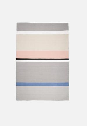 Sixth Floor Pastel Stripe Rug Handwoven Cotton Dhurrie