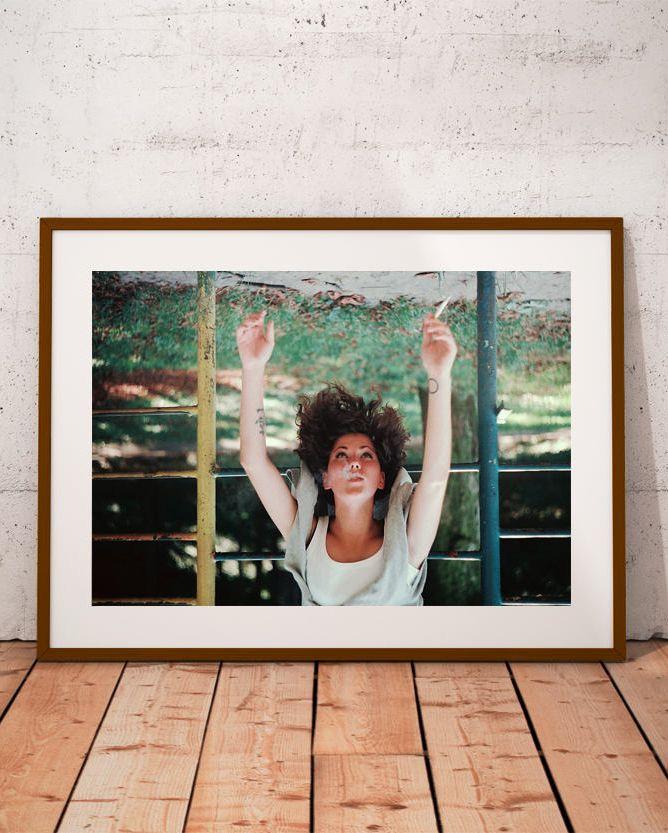#woman smoking #rebel girl #feminism art print #feminist decor #emotional portrait #riot girl photo  #tattooed girl #teenage girl portrait #teenage riot