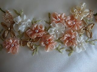 Silk Ribbon Embroidery: Five Petal Flower, Gathered Ribbon Flower.