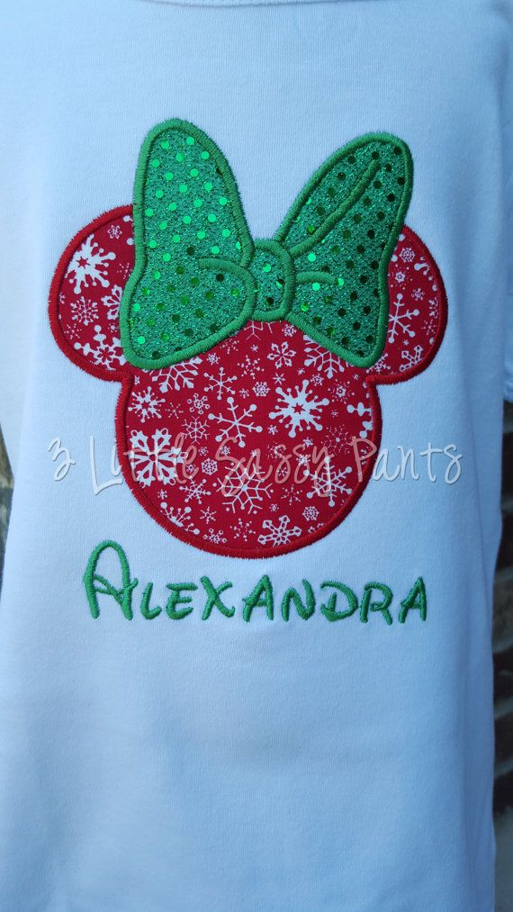 Christmas Minnie Mouse Shirt Christmas Minnie by 3LittleSassyPants
