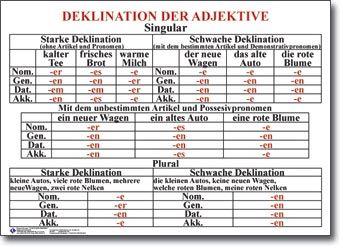 Deklination des Adjektives #deutsch #deklination #adjektiv