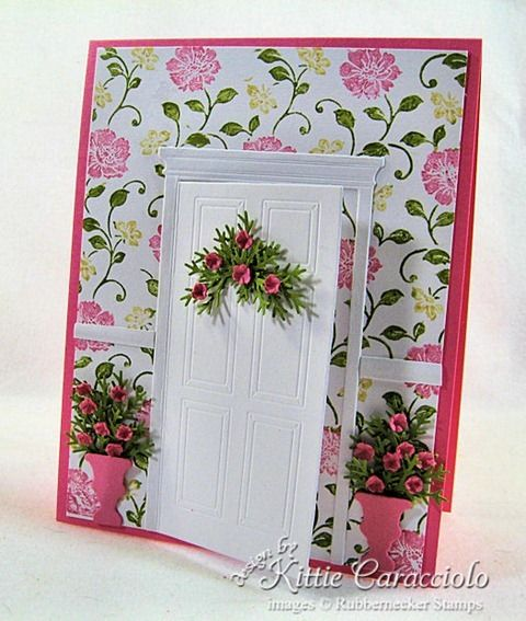 I love door cards!: Cards Ideas, Doors Cards, Cards Handmade Papercraft, Boxes Ideas, Boxes Doors, Doors Panels Cards, Cards Repin By Pinterest, Doors Die, The Boxes